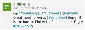 aidbrella nice-to-meet-you tweet