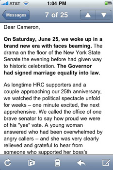 HRC Mobile Optimized Email