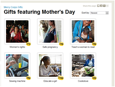 Mercy Corps Gifts - Mother's Day