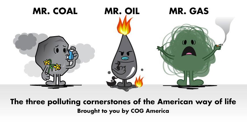Mr. Coal, Mr. Oil, and Mr. Gas
