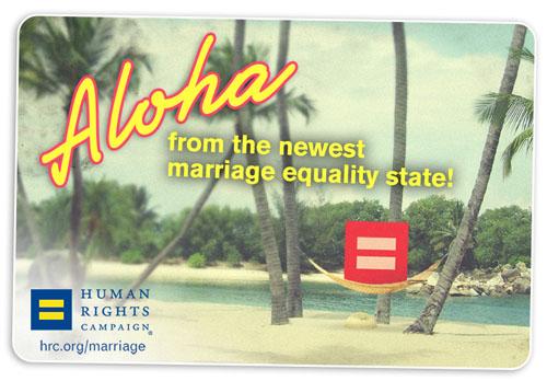 HRC Aloha Marriage Equality