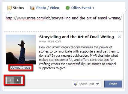 Jazz up your Facebook page with awesome, clickable link posts | M+R