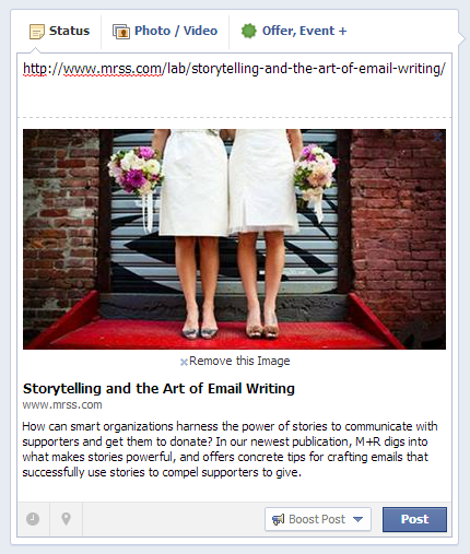 Jazz up your Facebook page with awesome, clickable link