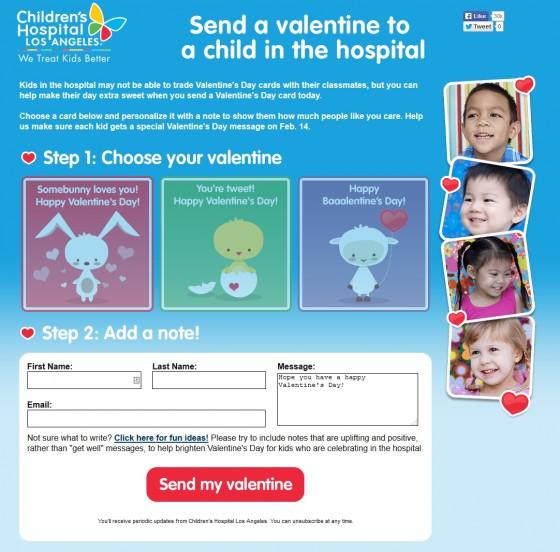 CHLA Send a Valentine